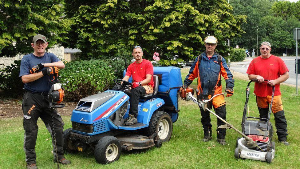 Gardening team at Glanryhd Hospital, Bridgend
