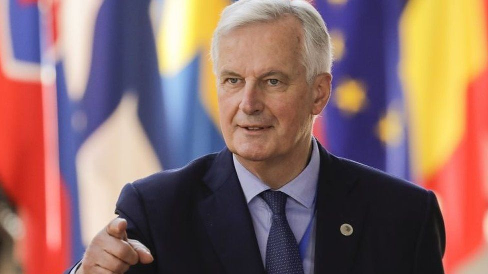 Brexit Chief Negotiator Michel Barnier arrives to take part in the last day of the European Union leaders' summit