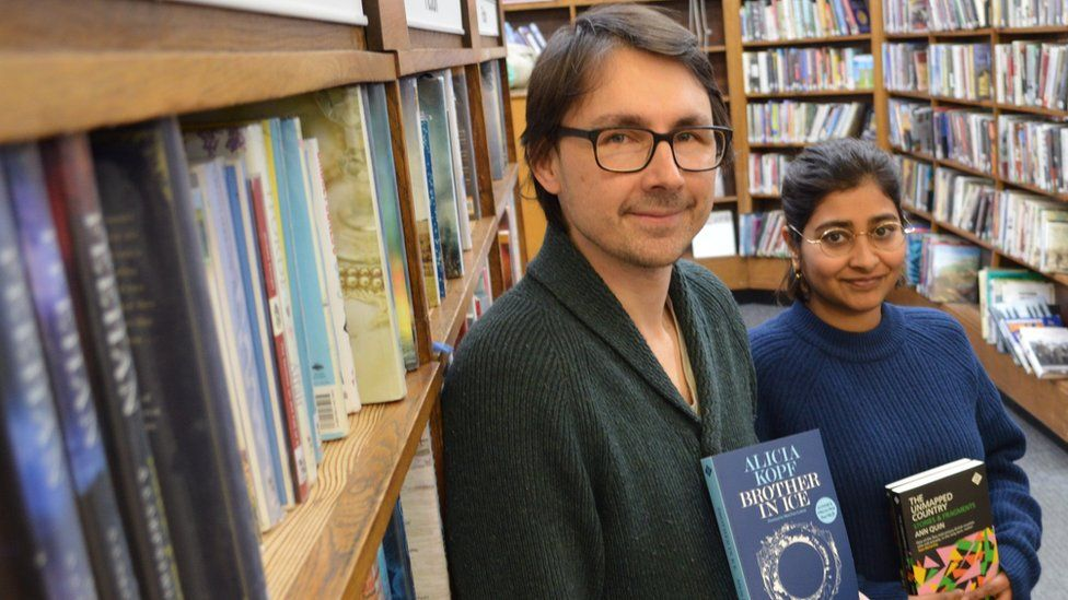And Other Stories publisher Stefan Tobler and editorial production manager Saba Ahmed