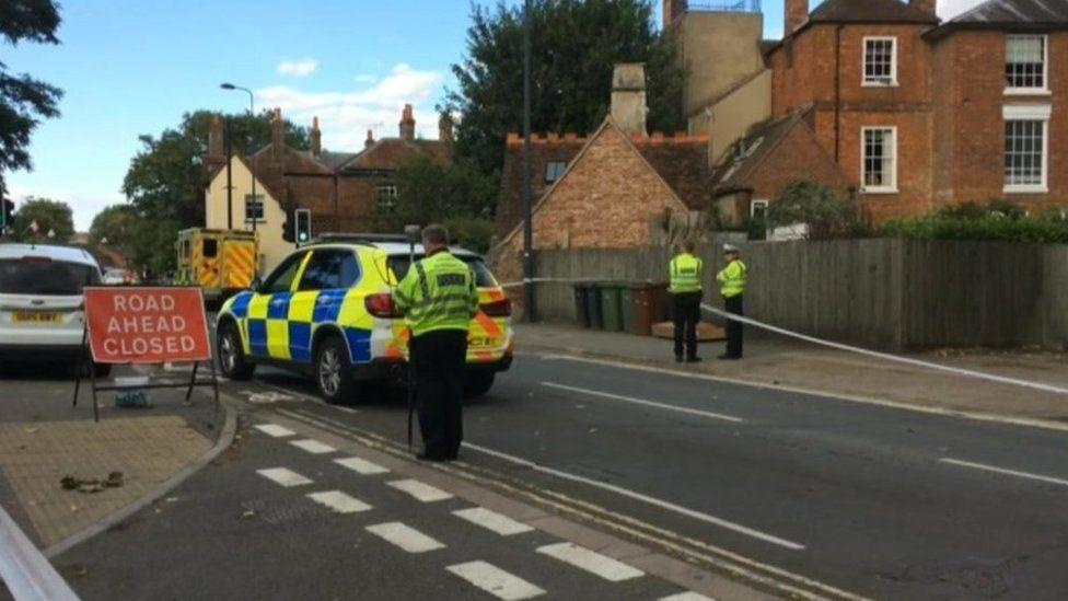 Scene of Abingdon crash