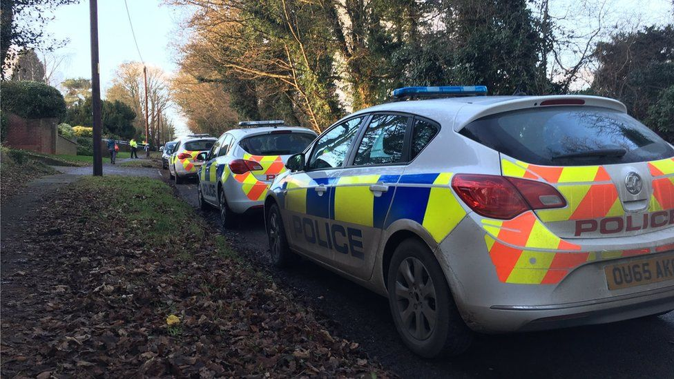 Police cars near scene of Botley rape
