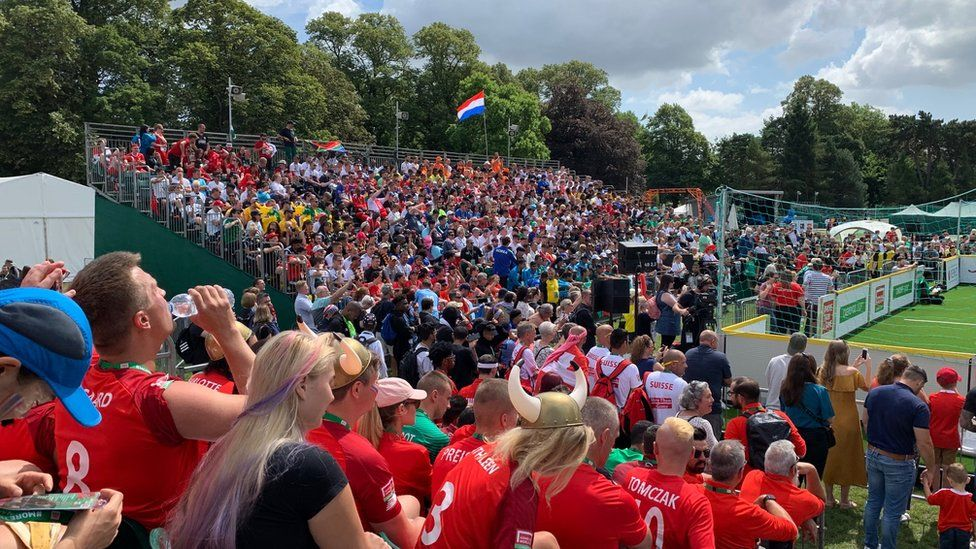 All of the teams from 48 countries took part in a parade before being at the opening ceremony