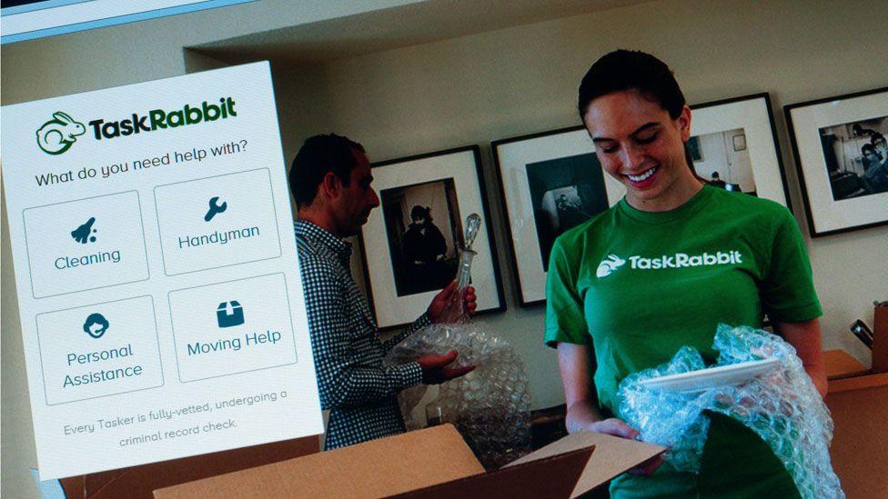 A screengrab of the TaskRabbit website