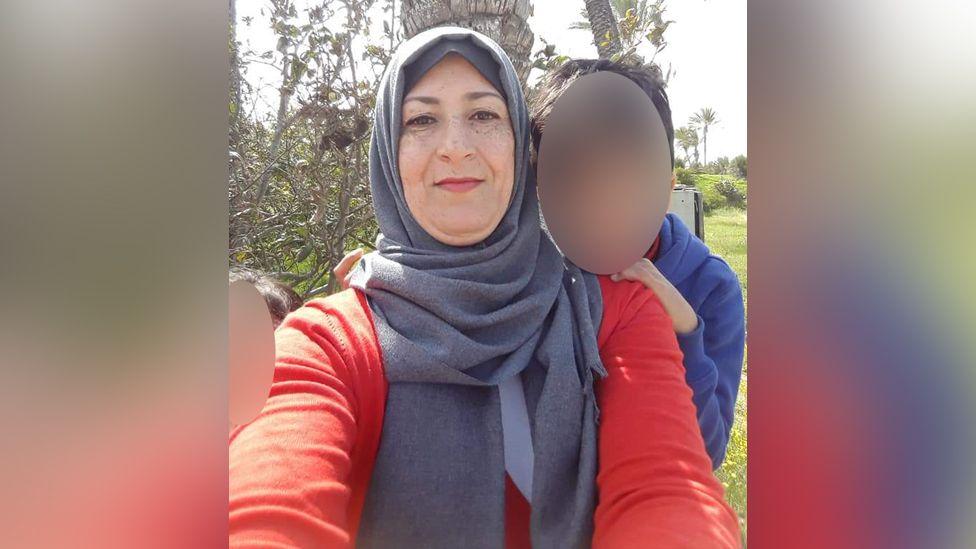 Najwa Sheikh-Ahmad with two of her children.