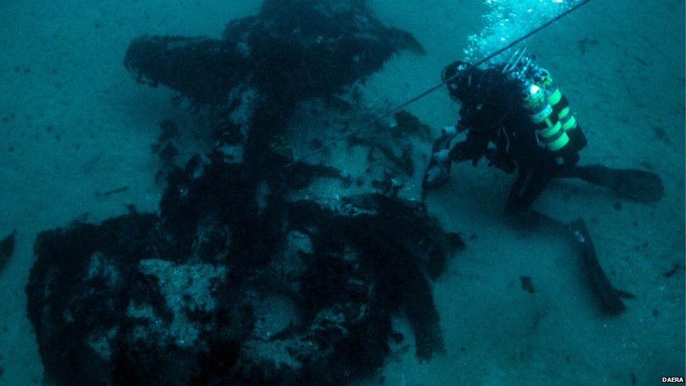 The wreck is a popular dive site