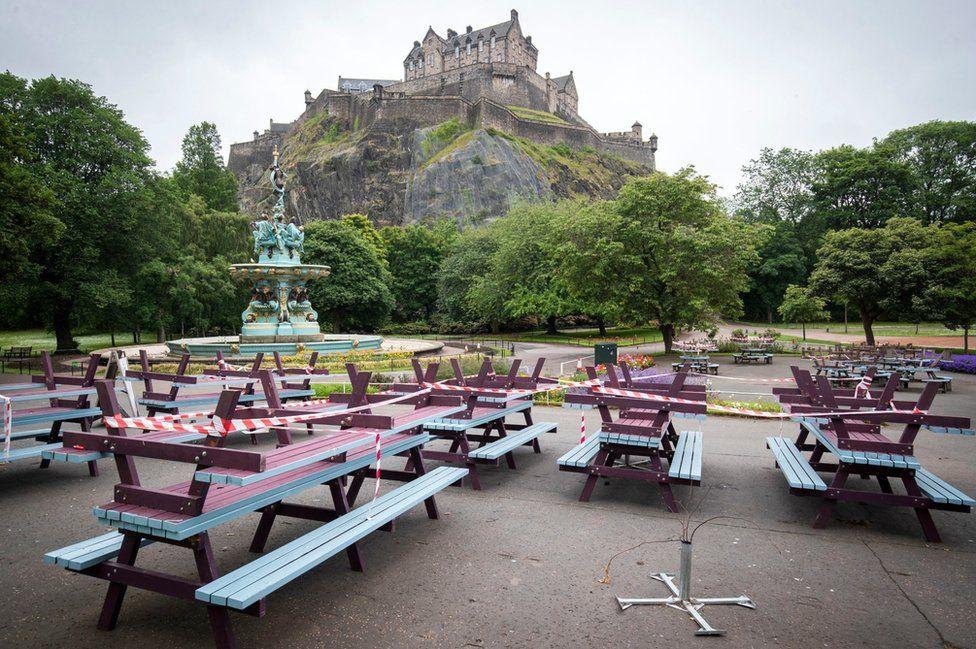 The Fountain Cafe and Bar in Edinburgh's Princes Street Gardens