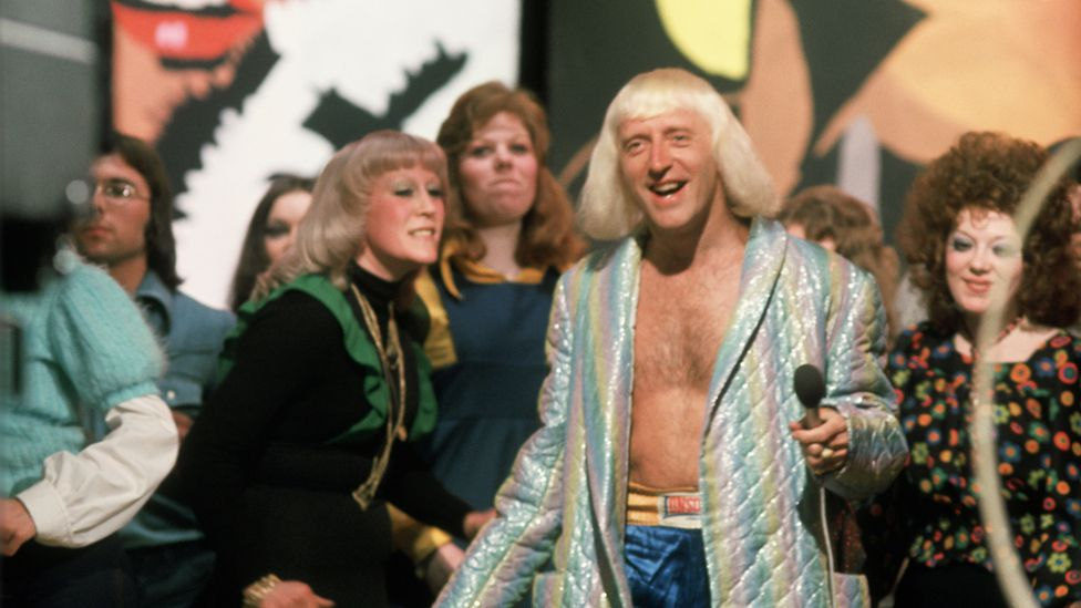 Savile presenting Top Of The Pops in the mid-70s