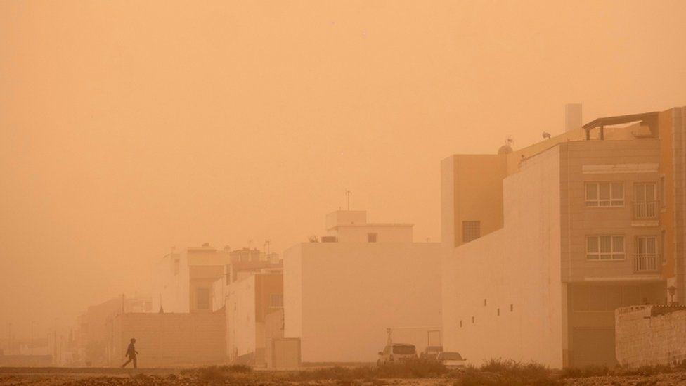 Песчаная буря на Фуэртэвентура