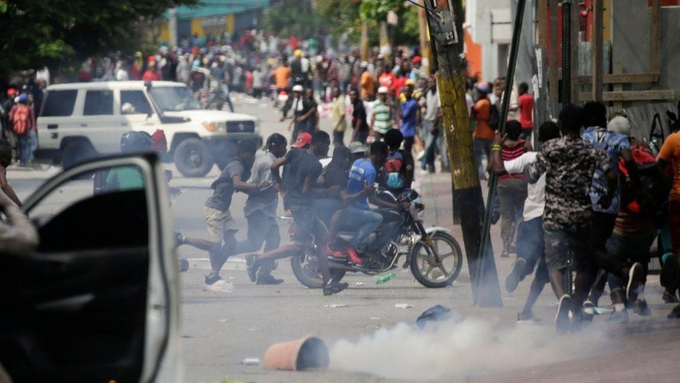 Protesters are demanding the resignation of President Jovenel Moïse
