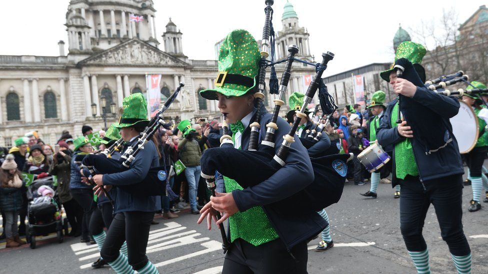 St Patrick's Day parade in Belfast