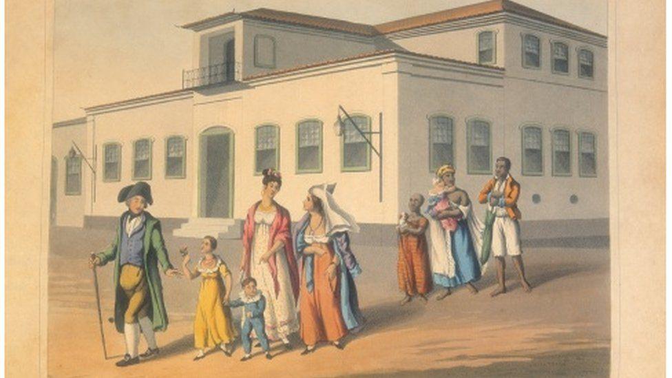 Views and customs of Rio de Janeiro - Sir Henry Chamberlain's watercolour shows the racial hierarchy of Brazilian society