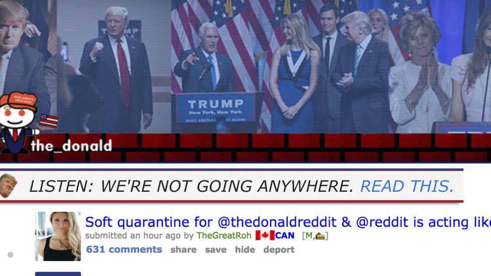 Screenshot of r/The_Donald