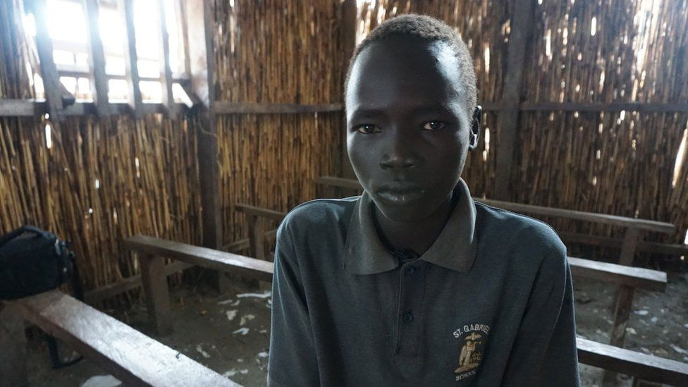 Eleven-year-old Kai Tap in South Sudan
