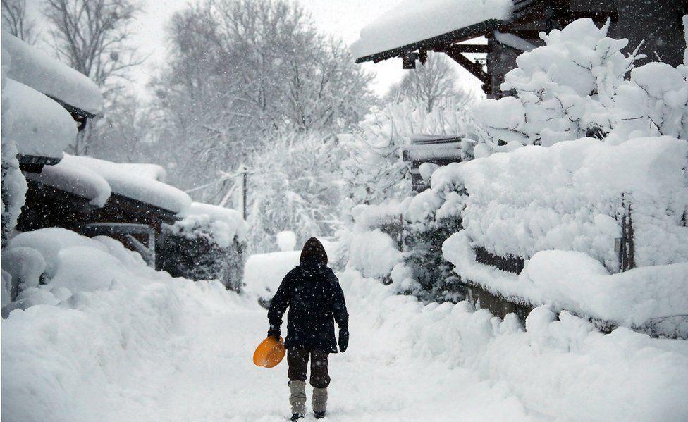 Snow in Warngau, 6 Jan 19