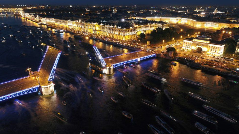 St Petersburg's opening bridges are a curse for the locals, but a delight to behold