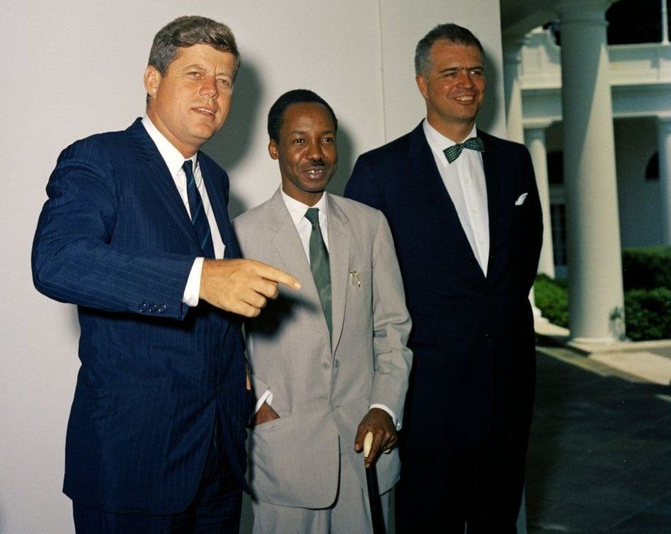 President Kennedy with Julius Nyerere