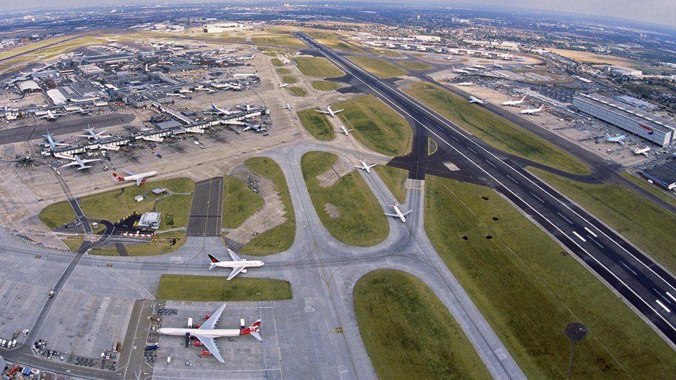 Aerial photograph of Heathrow