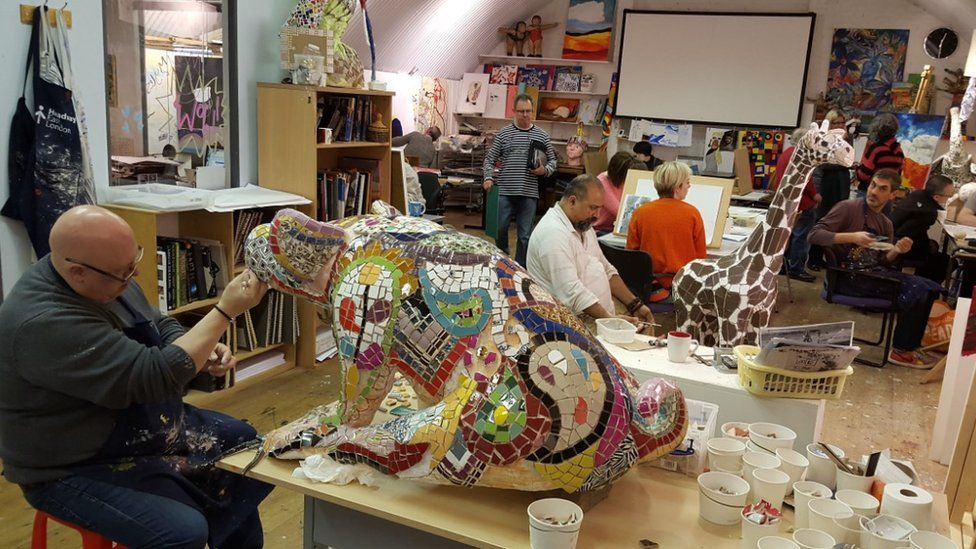 Art studio at Headway East London