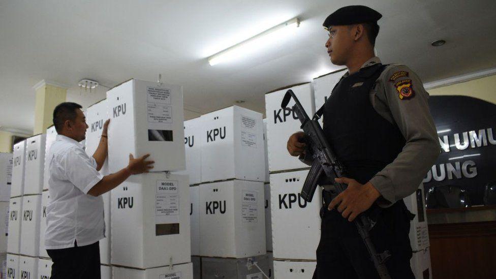 Indonesia ballot boxes