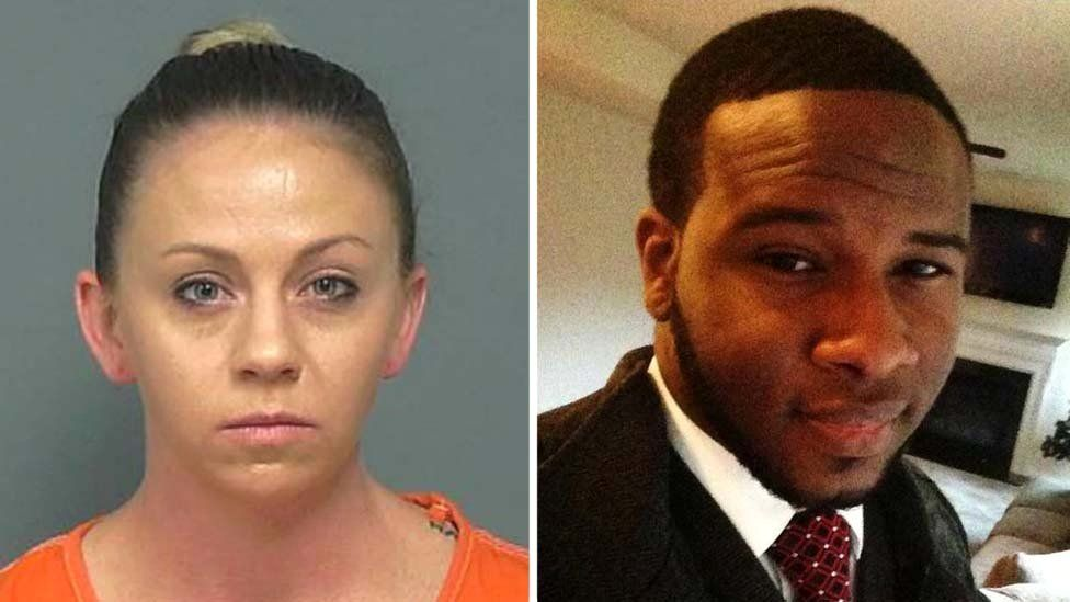 Amber Guyger (left) has been convicted of murdering Botham Jean