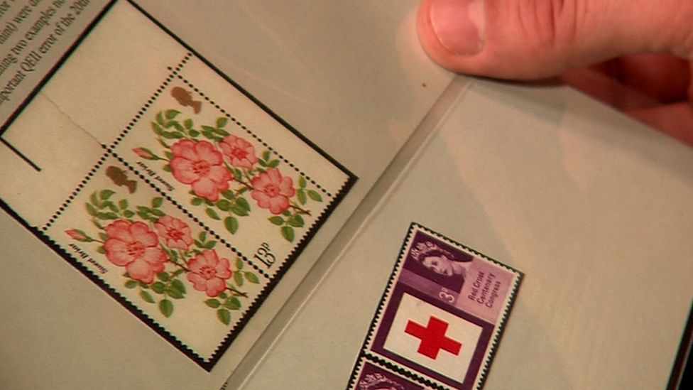 The roses stamp