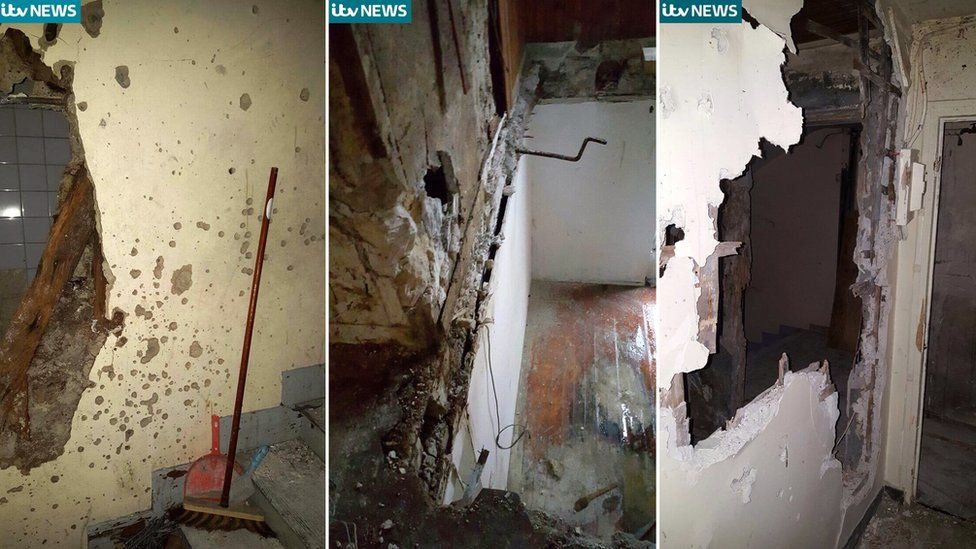 Images of damaged apartment in Saint-Denis