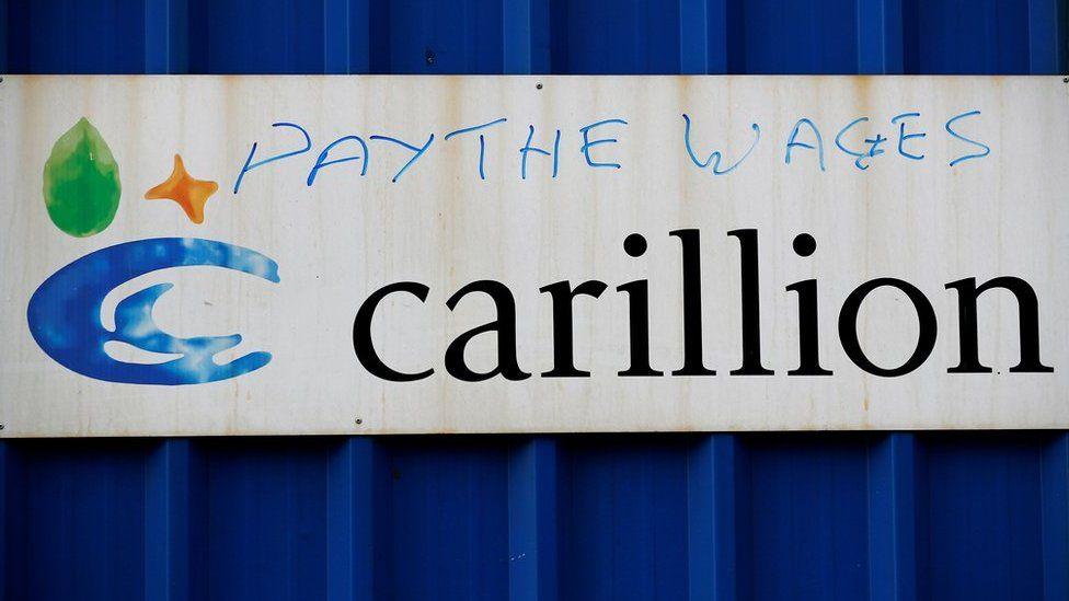 Graffiti at Carillion's Royal Liverpool site