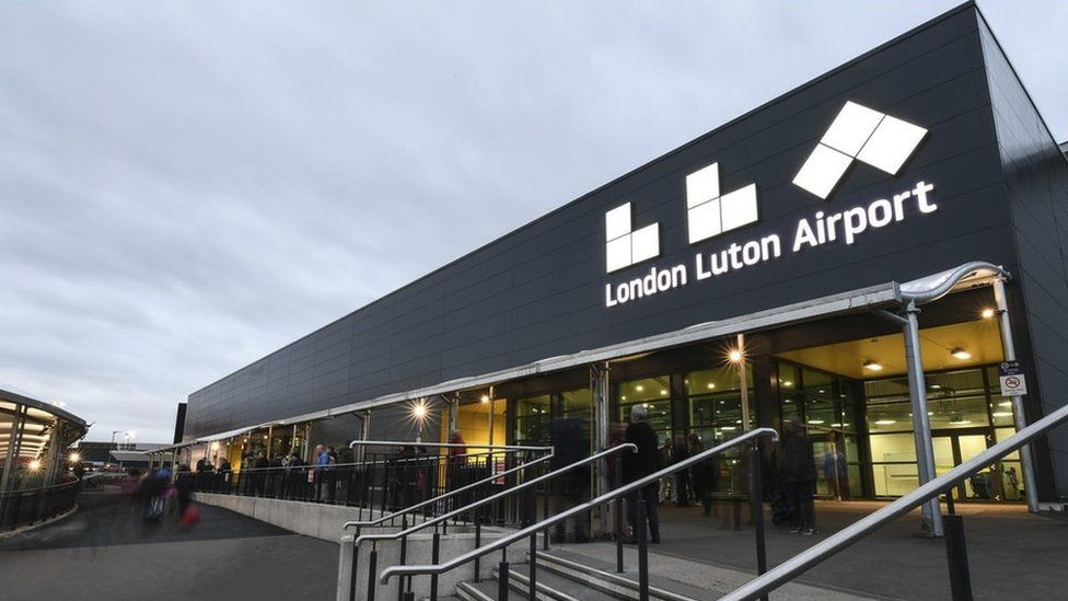 Outside of London Luton Airport