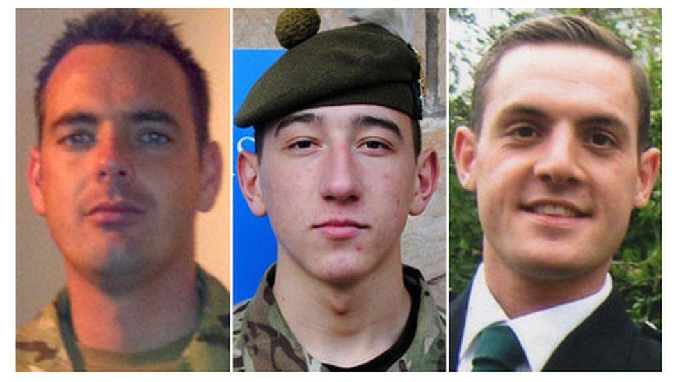 Cpl William Savage, Fusilier Samuel Flint and Pte Robert Hetherington