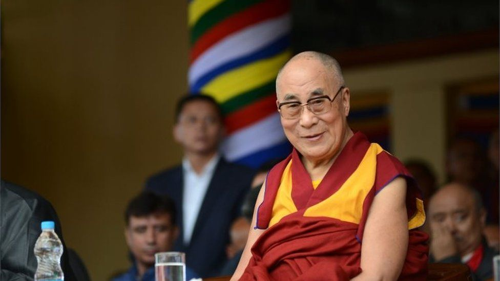 This file photo taken on June 21, 2015 shows the Dalai Lama attending an event.