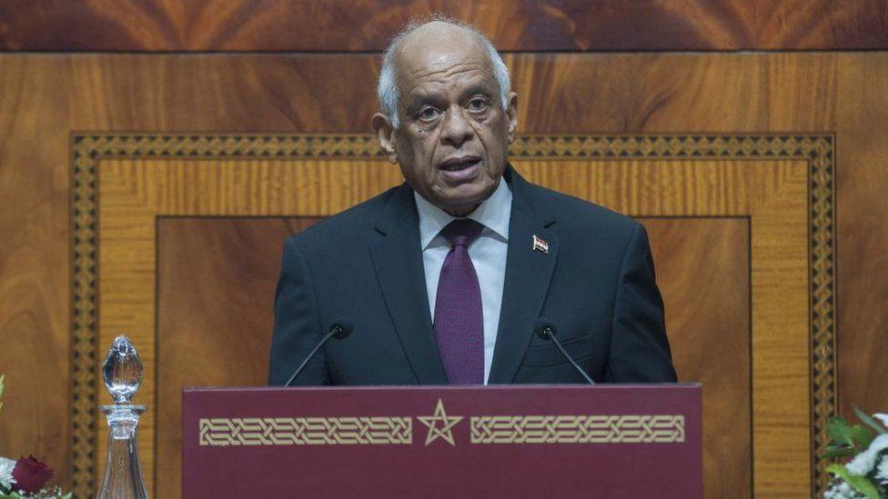 Egypt's speaker Ali Abdel Aal addressing parliament in December 2017