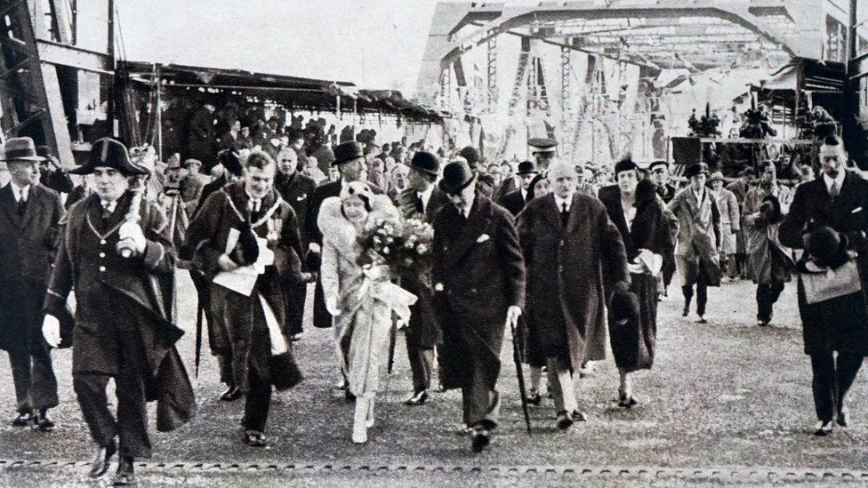 Newport Bridge was opened by Prince Albert Frederick Arthur George and Lady Elizabeth