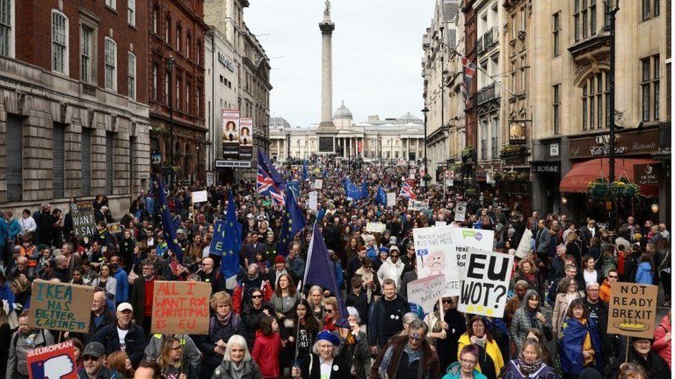 Campaigners march for a second EU referendum