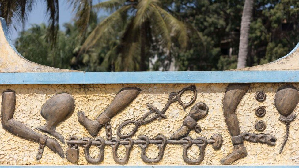 Slave trade monument in Benin, West Africa