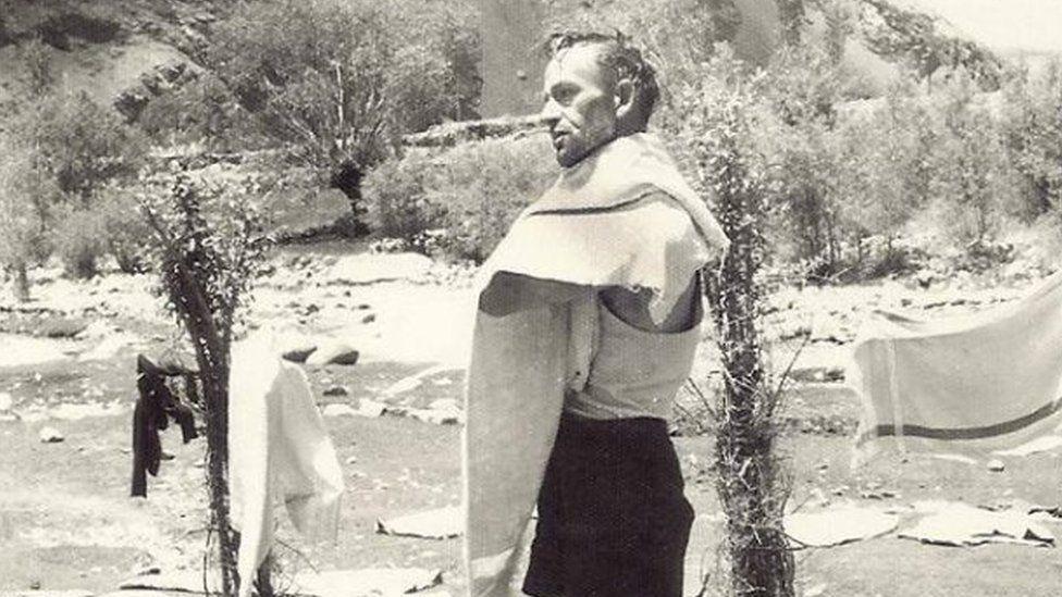 Maj Langlands during a trek through northern Pakistan in the 1960s
