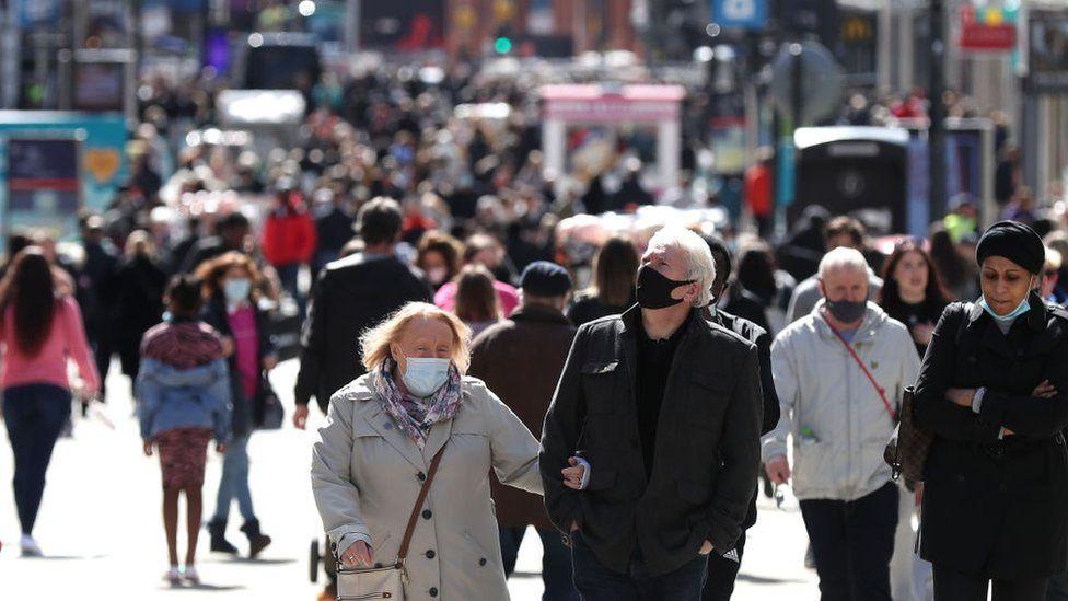 Shoppers in Leeds