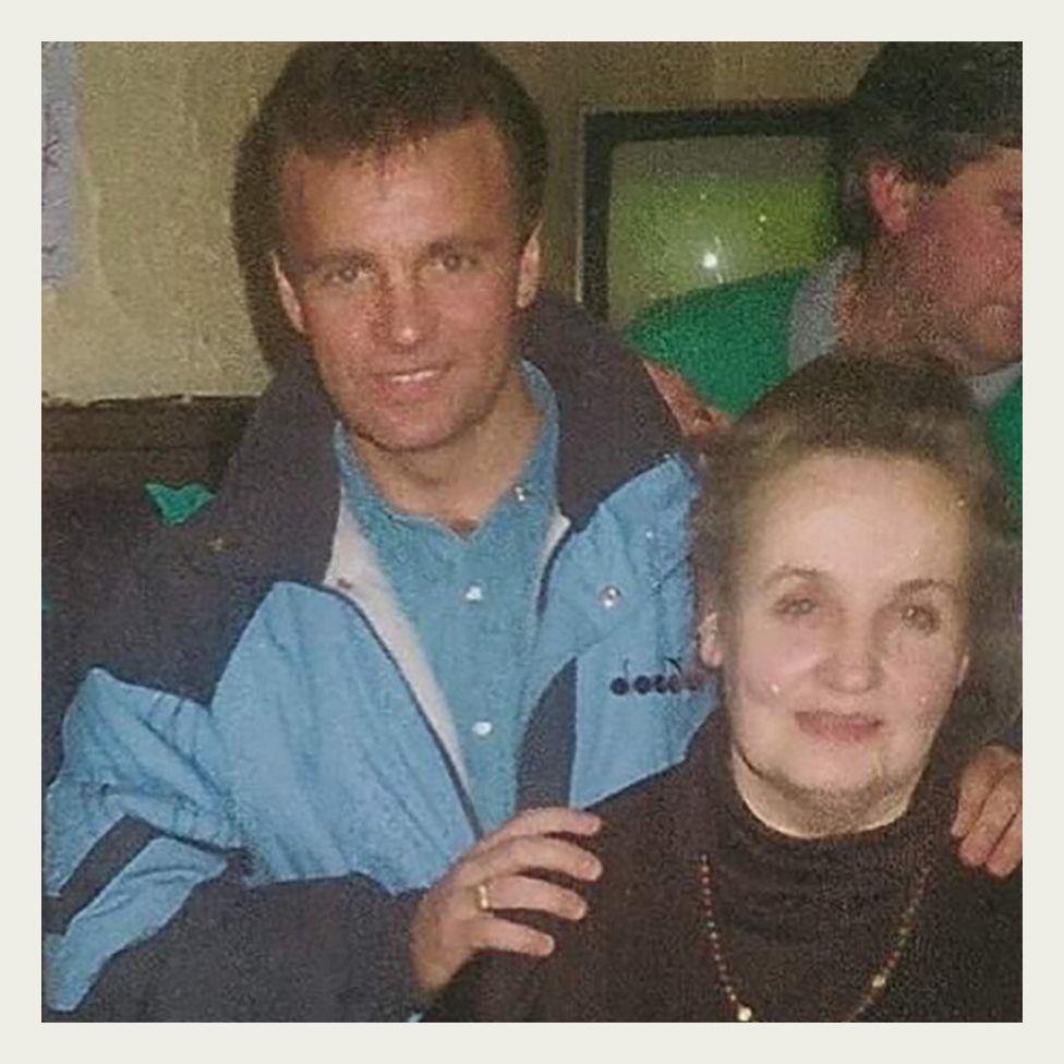 Rangers FC footballer, Davie Cooper pictured with Kathleen Waugh