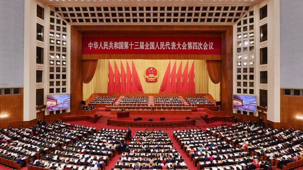 The 13th National People's Congress (NPC) opens at the Great Hall of the People