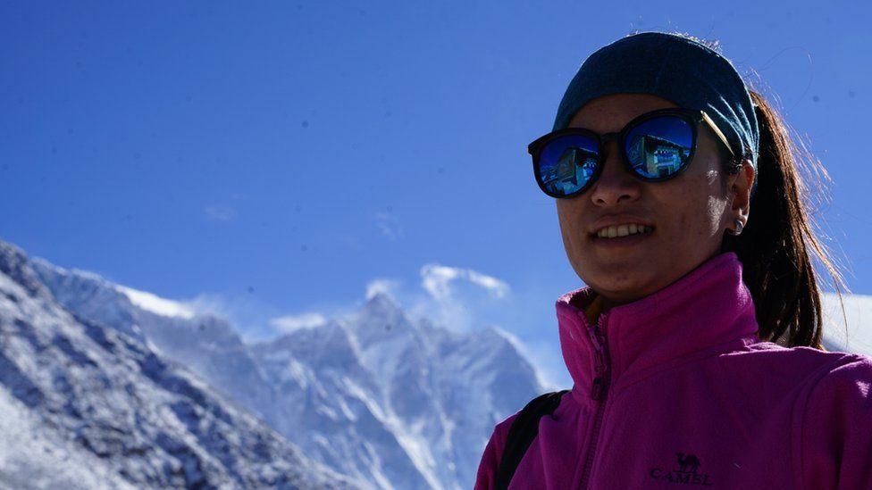Photo journalist Purnima Shrestha at Everest base camp this season