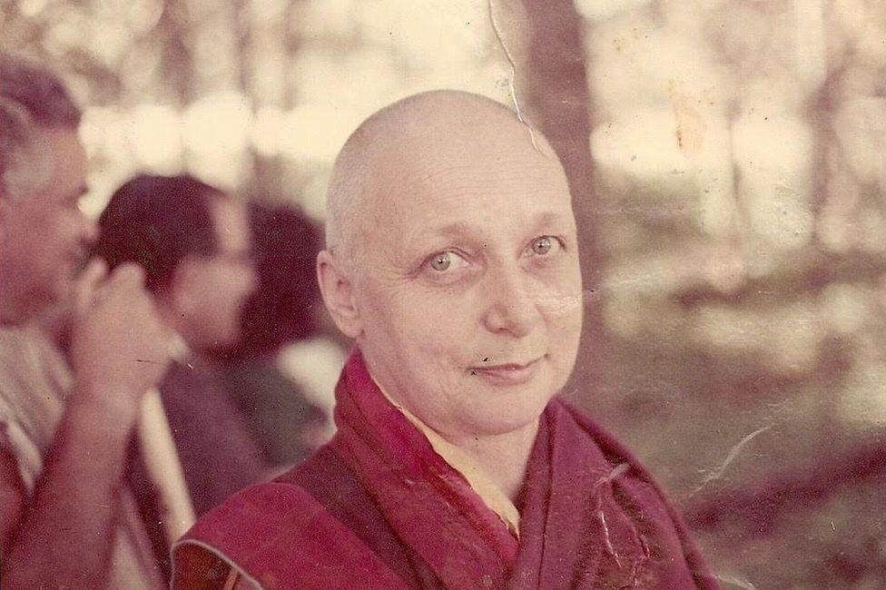 Freda as a nun, when she took the name Sister Palmo