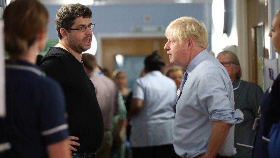 Omar Salem and Boris Johnson