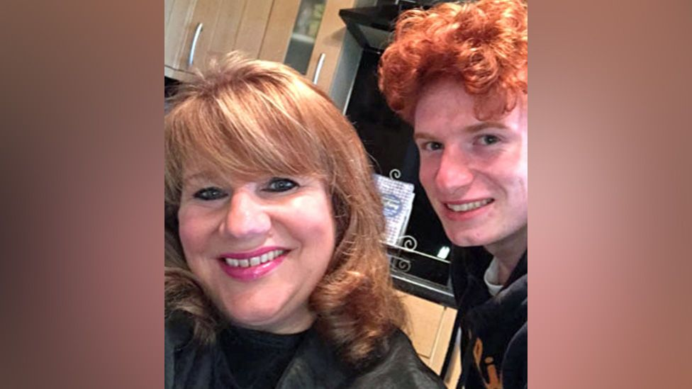 Jack Jenkins with his mum Joanne