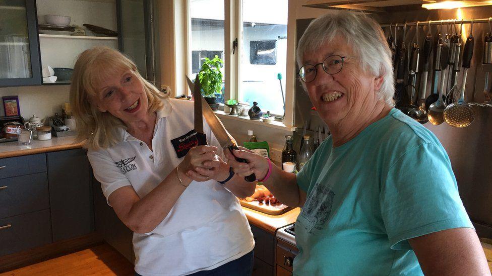 Sue Bremner and Margaret Hannay
