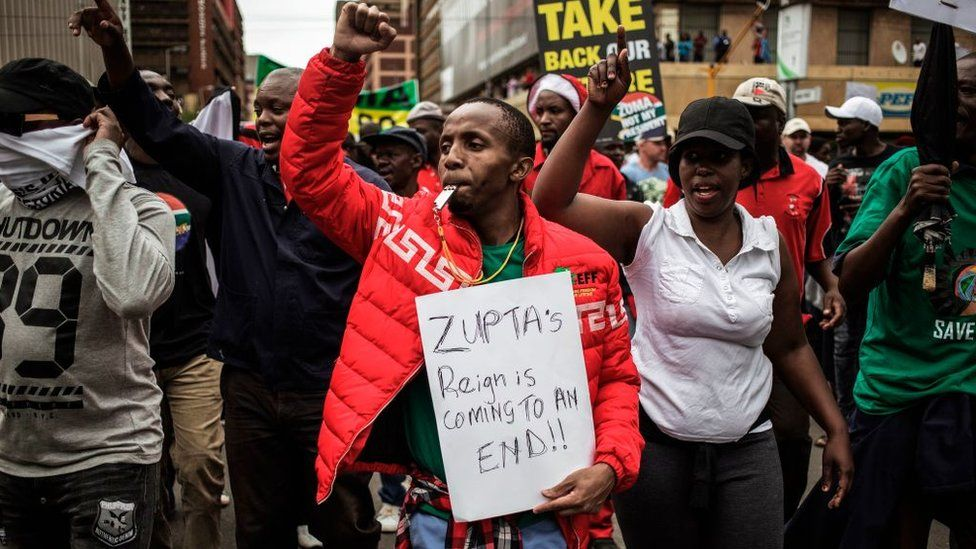 Anti corruption protest in South Africa