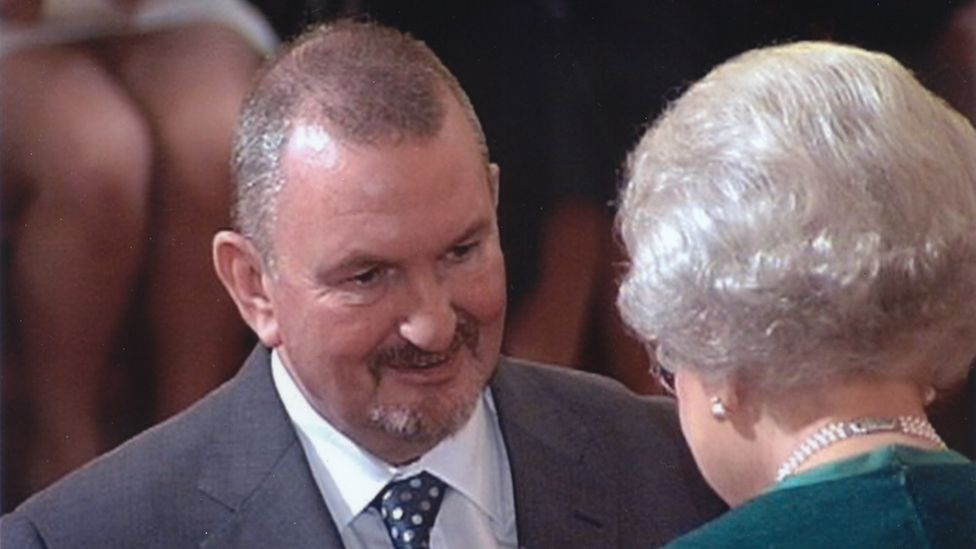 Ralph Baxter getting his MBE