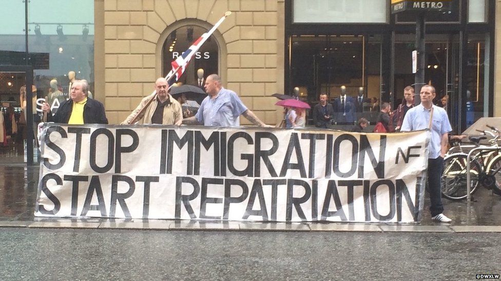 """Stop immigration start repatriation"" poster"
