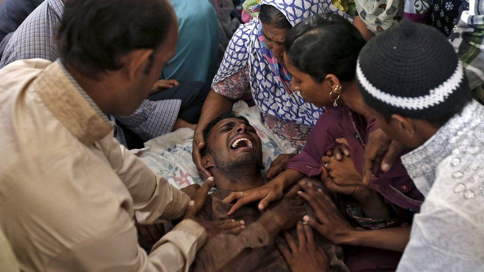 Distraught man in Ahmedabad, India, weeps after hearing that family members had died in the stampede. 25 Sept 2015