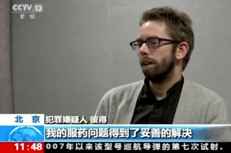 "Swedish human rights activist Peter Dahlin ""confesses"" on CCTV"