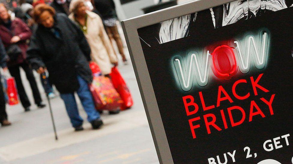 Black Friday High Street sign