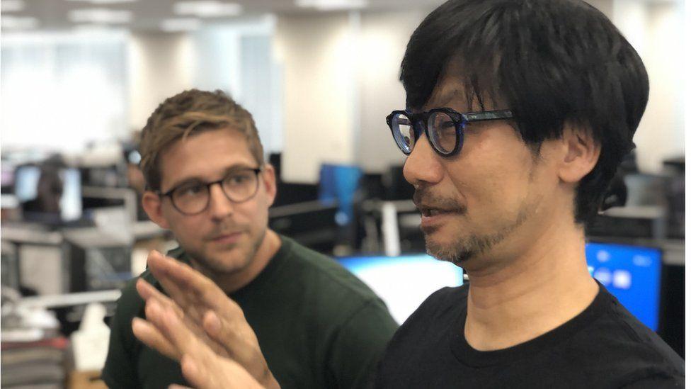 Kojima speaking to Newsbeat reporter Steffan Powell